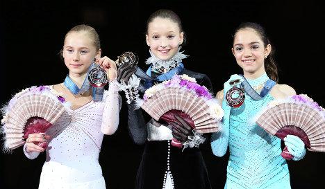 Серафима Саханович, Мария Сотскова и Евгения Медведева
