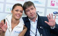Николь Госвияни (Россия) вместе с тренером Алексеем Урмановым