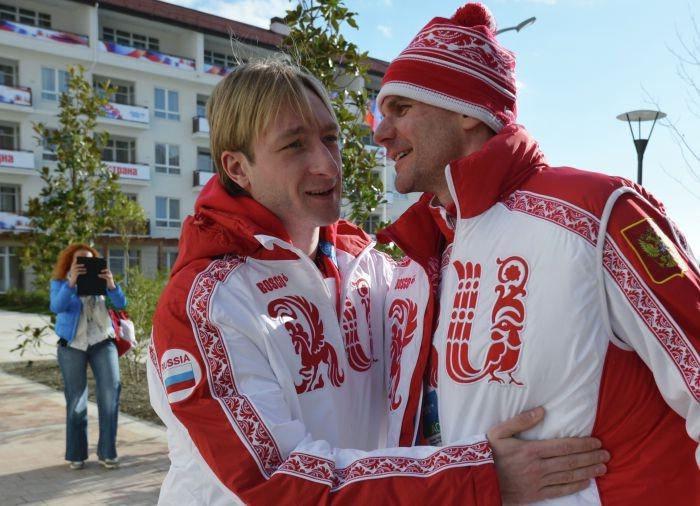 Евгений Плющенко и Алексей Яшин