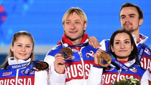 Российские фигуристы с золотом