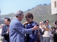 Леонид Ильич Брежнев и Ирина Роднина