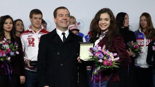 Дмитрий Медведев и Аделина Сотникова