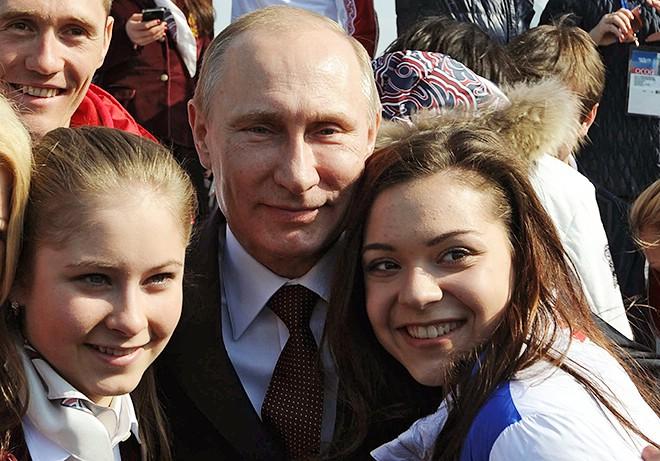Юлия Липницкая, Владимир Путин, Аделина Сотникова