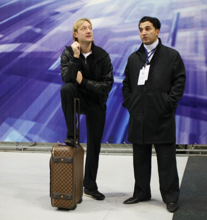 Евгений Плющенко и Ари Закарян