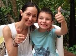 Анжелика Крылова с сыном Энтони
