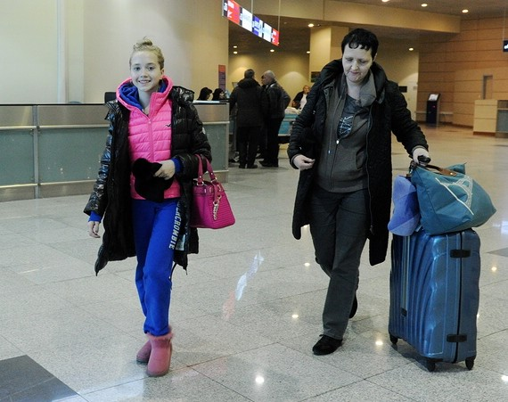 Елена Радионова с тренером