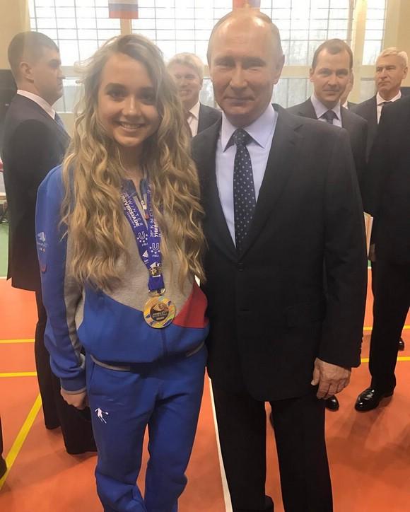 Елена Радионова с Путиным