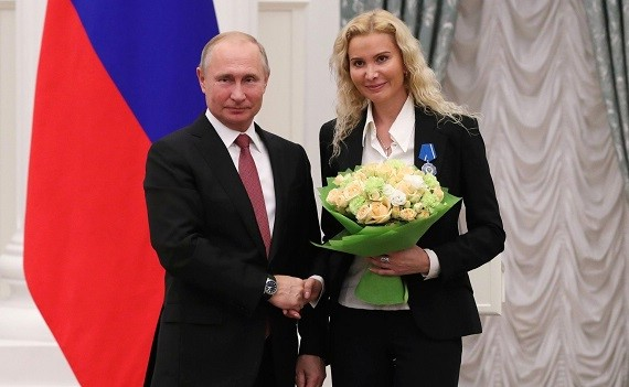 Владимир Путин и Этери Тутберидзе